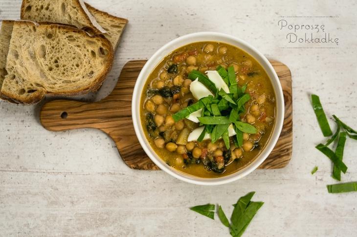 hiszpańska zupa z cieciorki