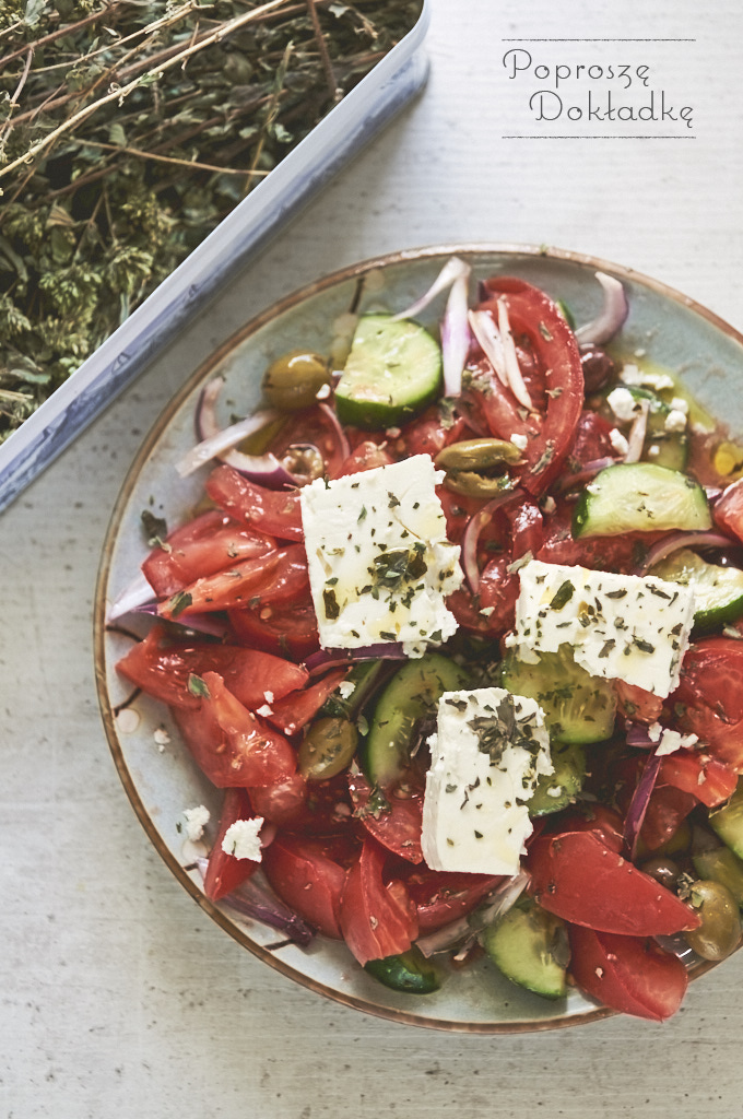 Horiatiki - Oryginalna sałatka grecka przepis